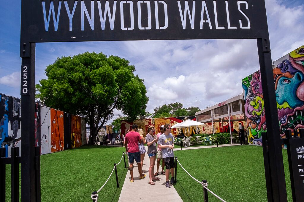 Entrada do Whynwood Walls no Arts District, Miami Foto Roberto Pereira